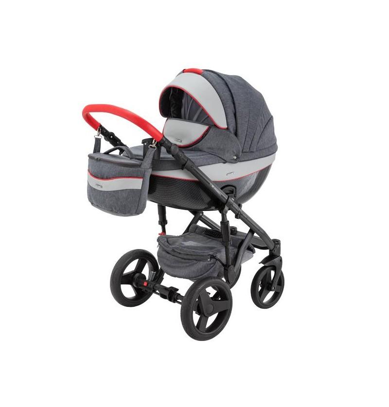 Adamex Monte Carbon Deluxe Wózek Dziecięcy 2w1