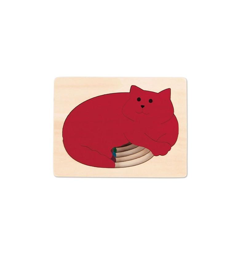 Hape- 6514 Puzzle Pięć Kotów