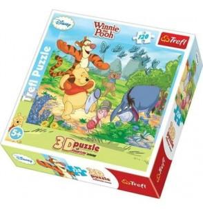 Puzzle Kubuś Puchatek Łapanie motyli 35648 120 el.