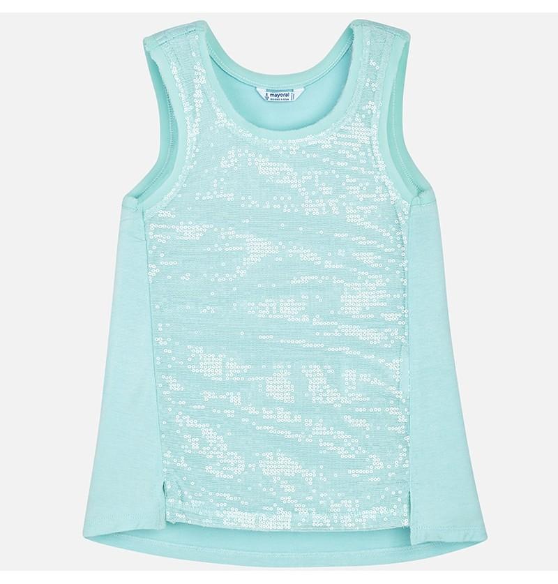 Koszulka z cekinami Mayoral 6066-051