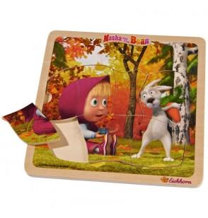Puzzle drewniane Masza i Niedźwiedz