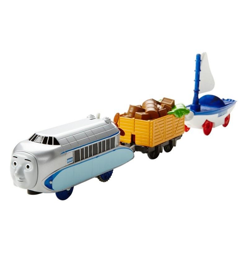 Fisher-Price Track Master Pociąg z napędem Hugo i Skiff DVF84