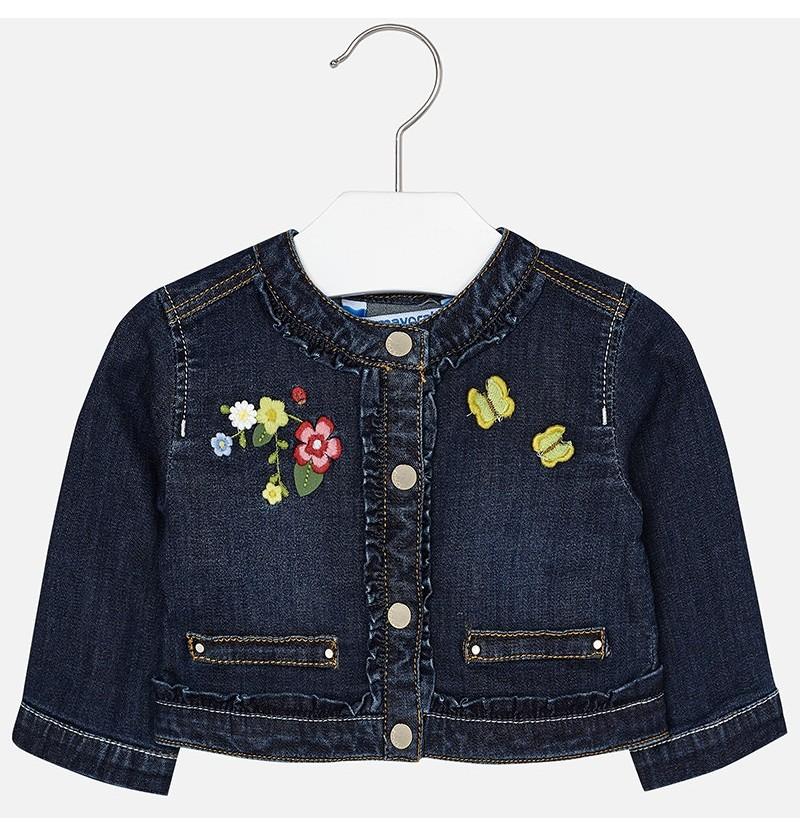 Kurtka jeansowa z haftami 1424-050 Mayoral