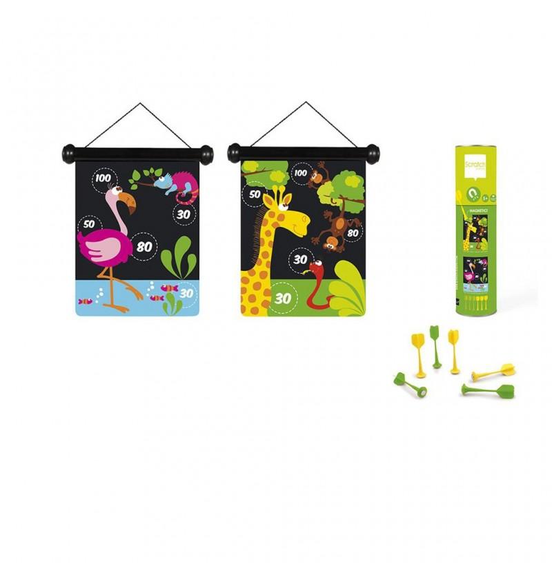 Scratch Rzutki magnetyczne zoo 6182014