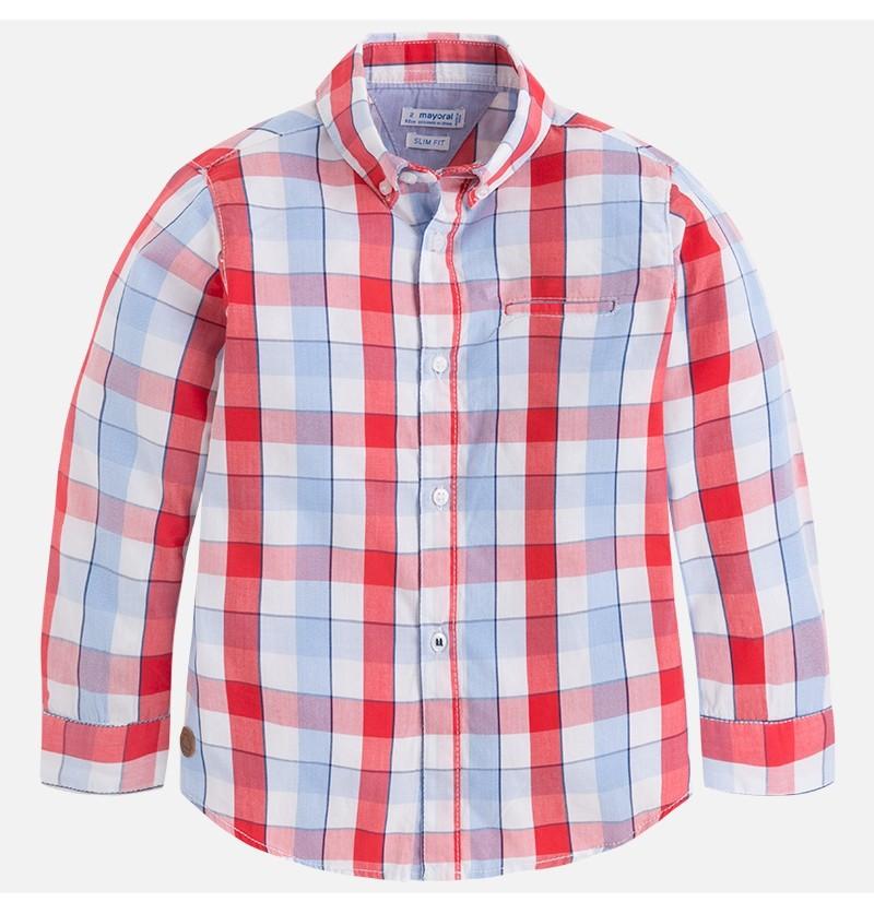 Koszula w kratę 3166-011 Mayoral