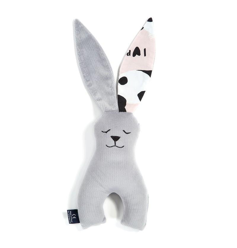 La Millou Zabawka królik 23 cm IlovePanda Dark Grey by Marta Żmuda Trzebiatowska