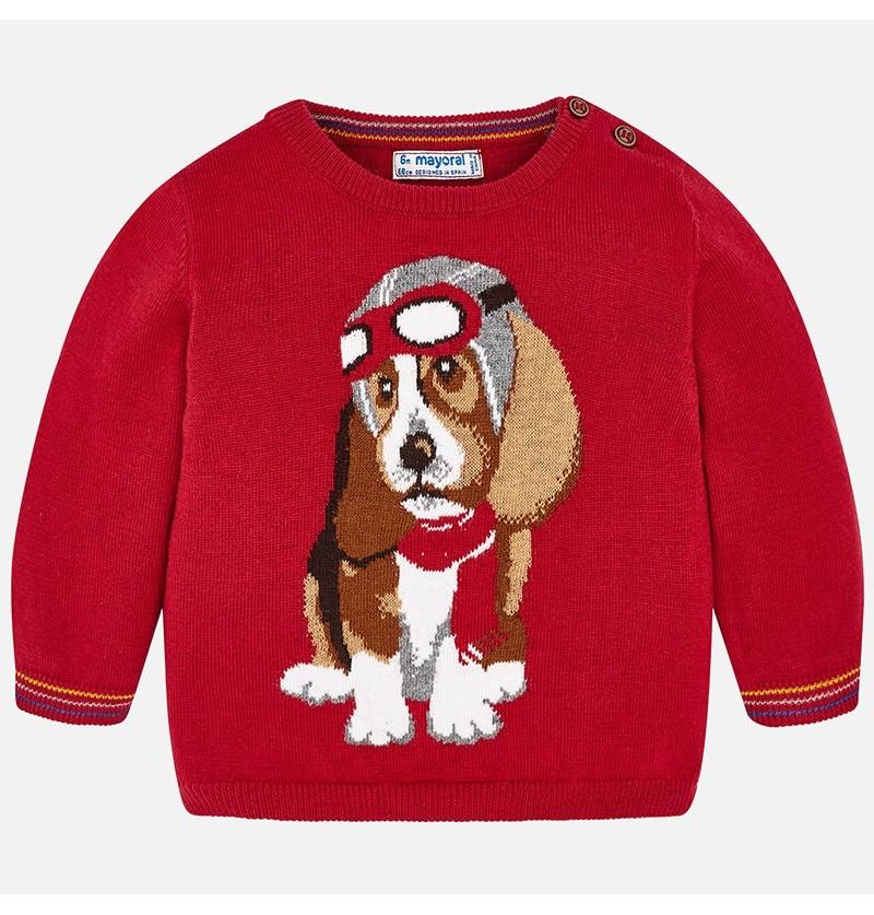 Sweter z pieskiem 2318-058 Mayoral