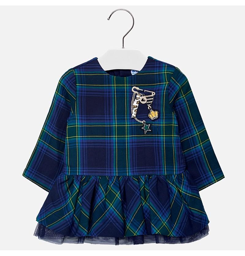 Sukienka w kratkę 2926-018 Mayoral