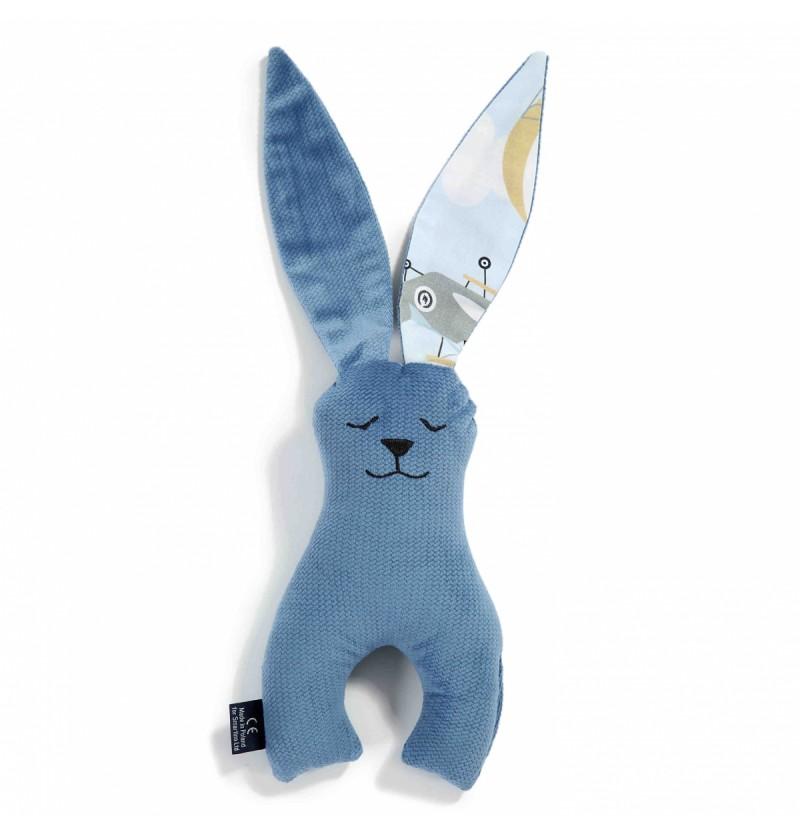 La Millou Zabawka królik 21 cm Captain Adventure Denim