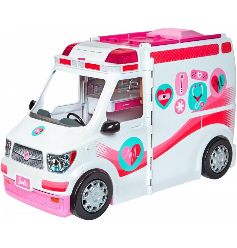 Barbie FRM19 Karetka mobilna ze światłami i dźwiękiem