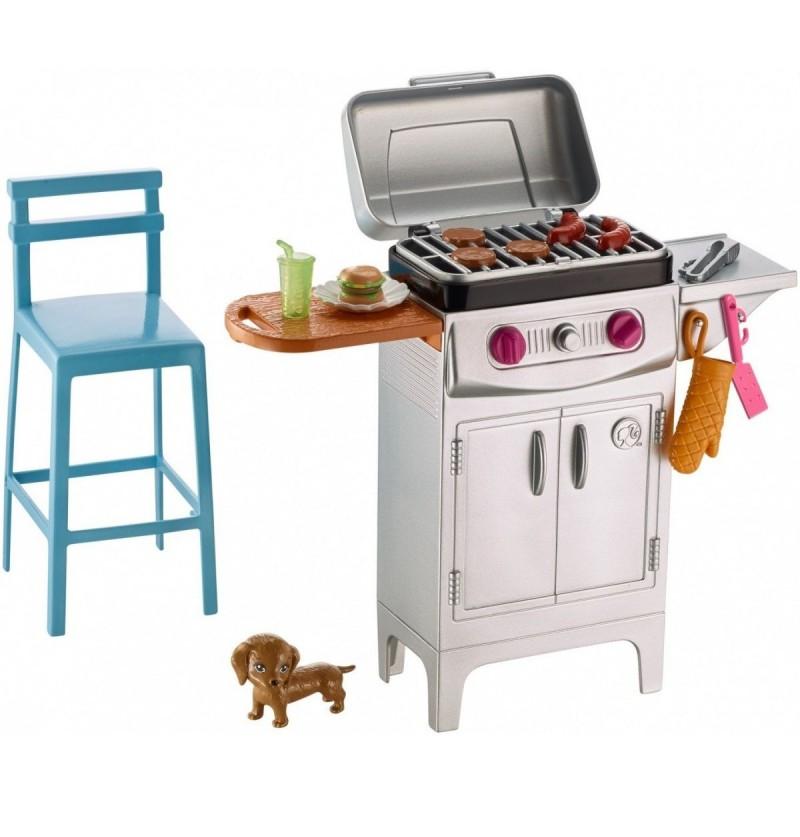 Barbie DVX48 Akcesoria wypoczynkowe grill