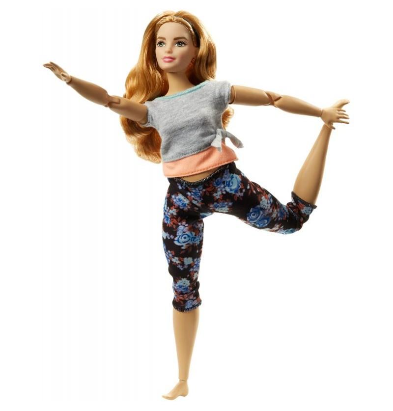 Barbie FTG84 Made to Move Kwieciste Lalka z krągłościami