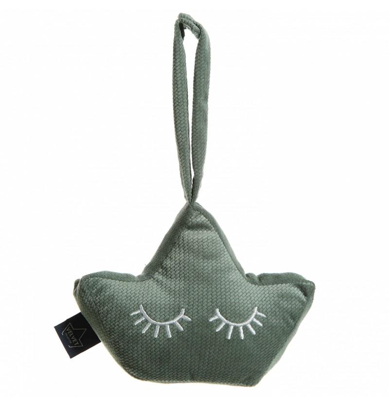 La Millou Grzechotka Baby Crown Khaki Velvet Collection
