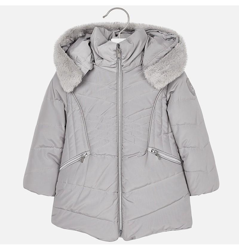 Długa kurtka z futerkiem 4437-077 Mayoral