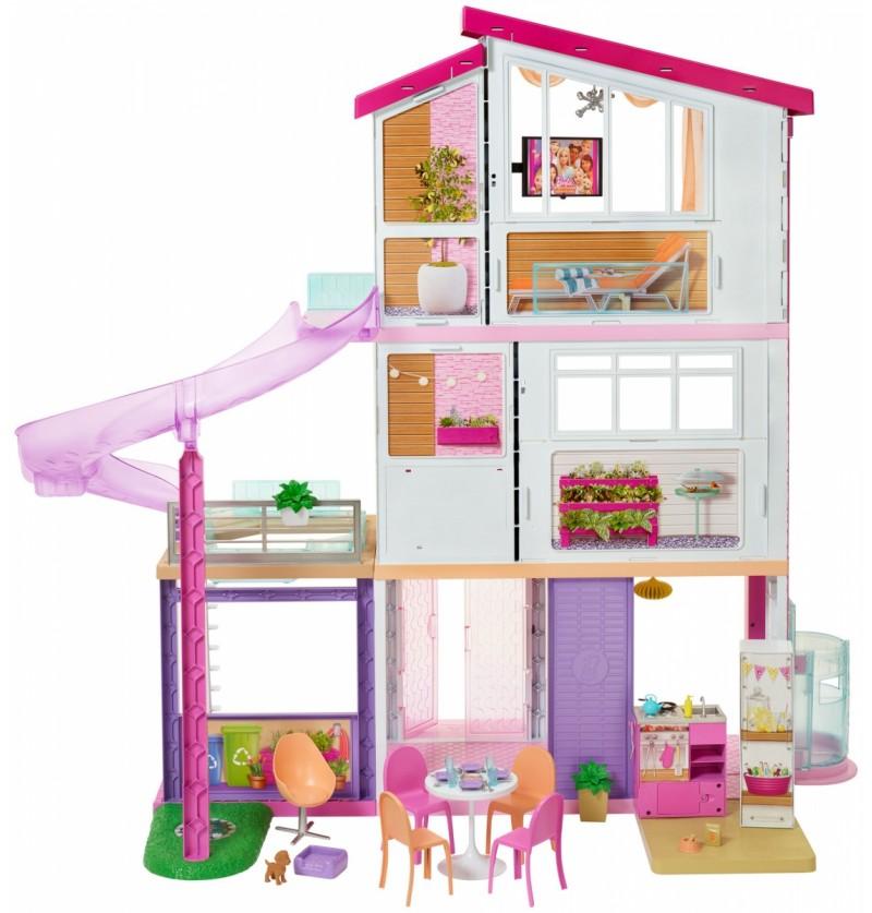 Barbie FHY73 Domek dla lalek Barbie ze światłem i dźwiękiem