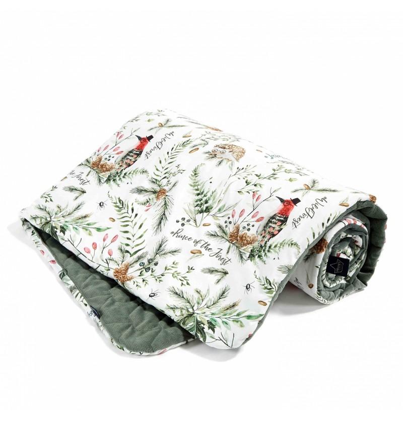 La Millou Kocyk średniaka Forest Khaki Velvet Collection