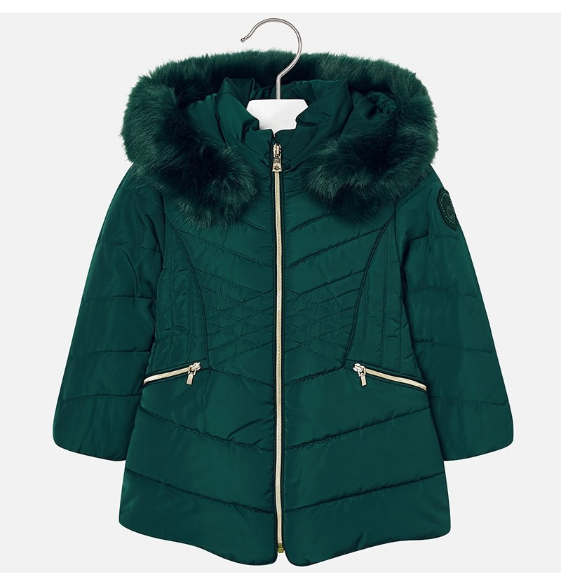 Długa kurtka z futerkiem 4437-074 Mayoral
