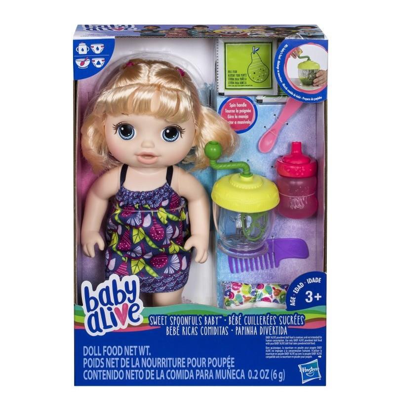 Baby Alive E0586 Lalka Blondynka Słodka przekąska