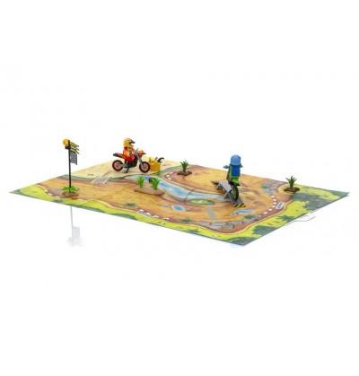 Playmobil - 9329 Play Map Motocross
