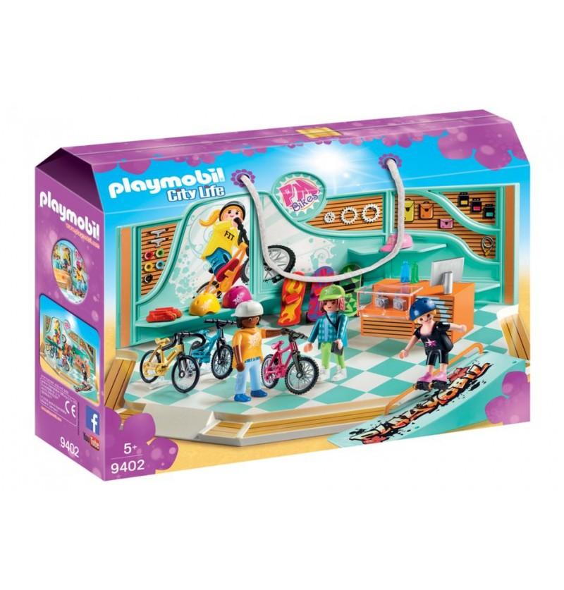 Playmobil -9402 Sklep rowerowy i skateboardowy