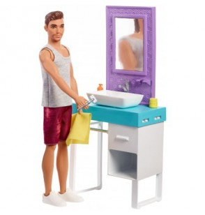 Barbie FYK53 Ken domowe zajęcia