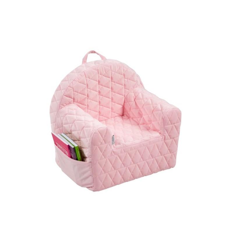 Albero mio V101 Fotelik Velvet Róż