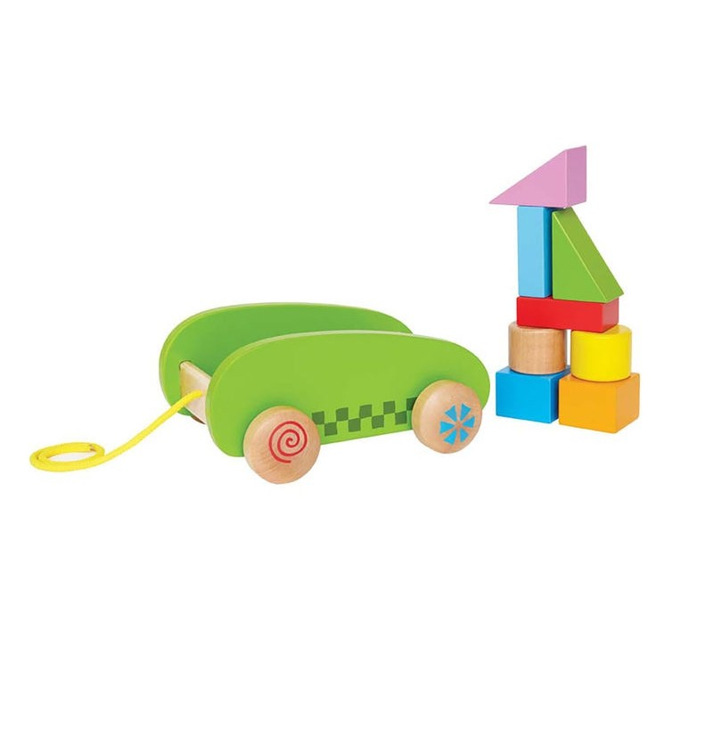 Hape- 0408 Mały Wózek z Klockami