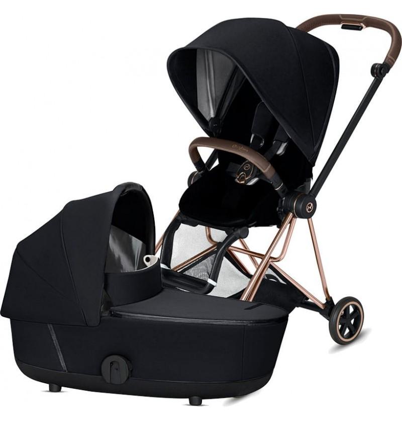 Cybex Mios 2.0 Premium Black Wózek Głęboko-Spacerowy 2w1