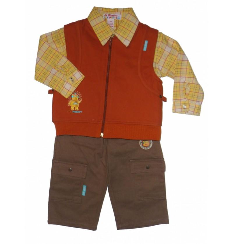 Komplet Kamizelka Koszula Spodnie