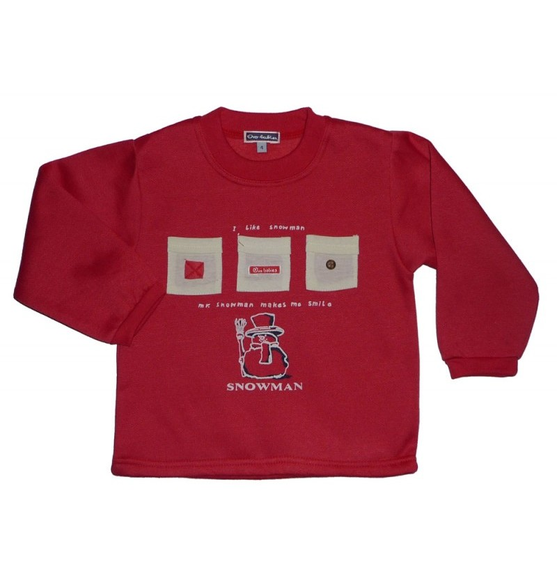 Bluza SNOWMAN czerwona/granat