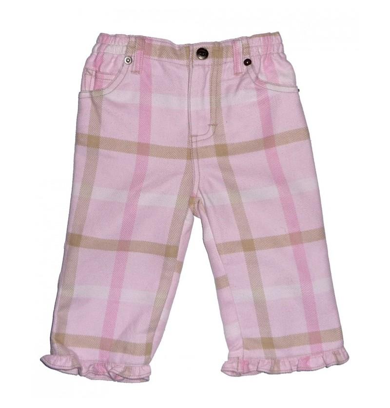 Spodnie krata kratka dla dziewczynki