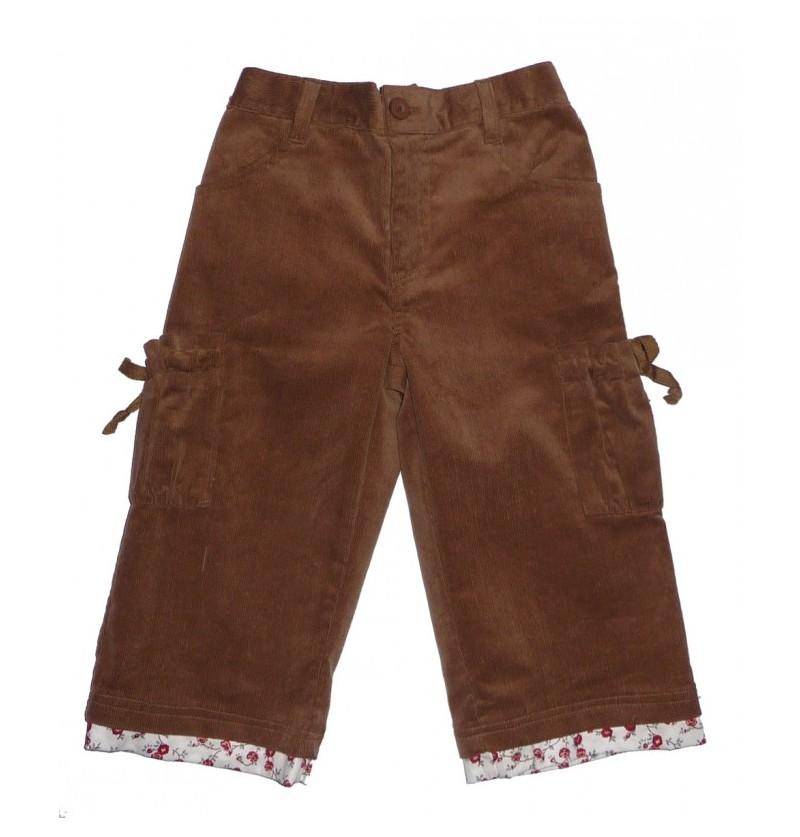 Spodnie sztruks dla dziewczynki