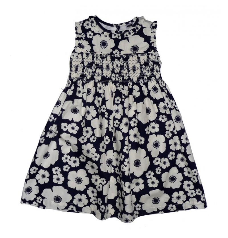 Letnia Sukienka w Kwiaty - granat