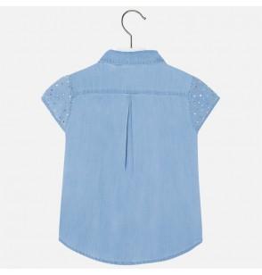 Jeansowa bluzka z ćwiekami Mayoral 3179