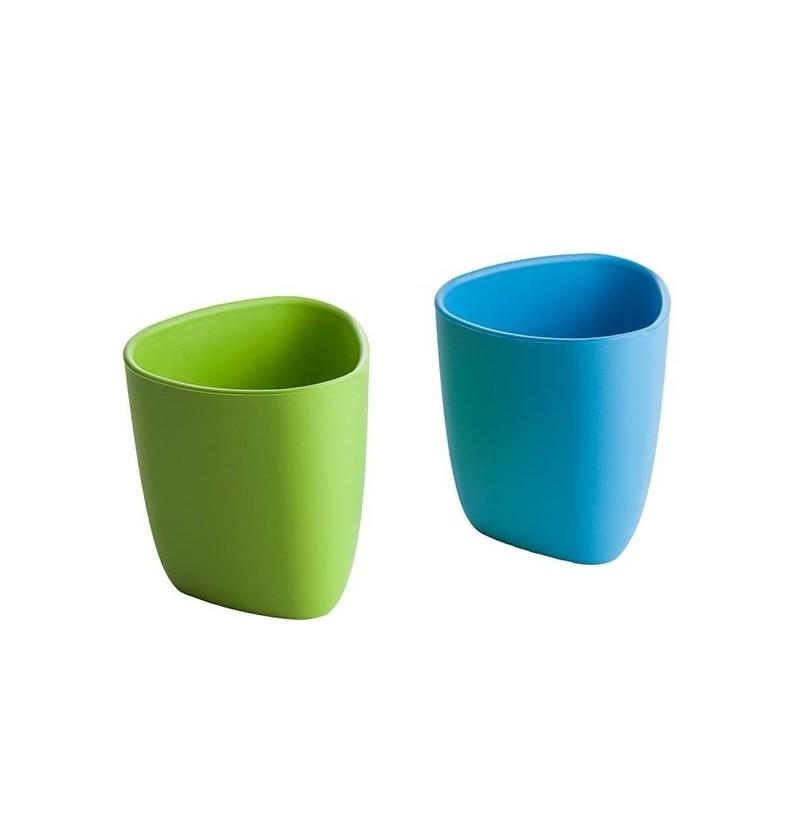 Ekoala Kubeczki 2 szt bio 012 niebiesko zielone