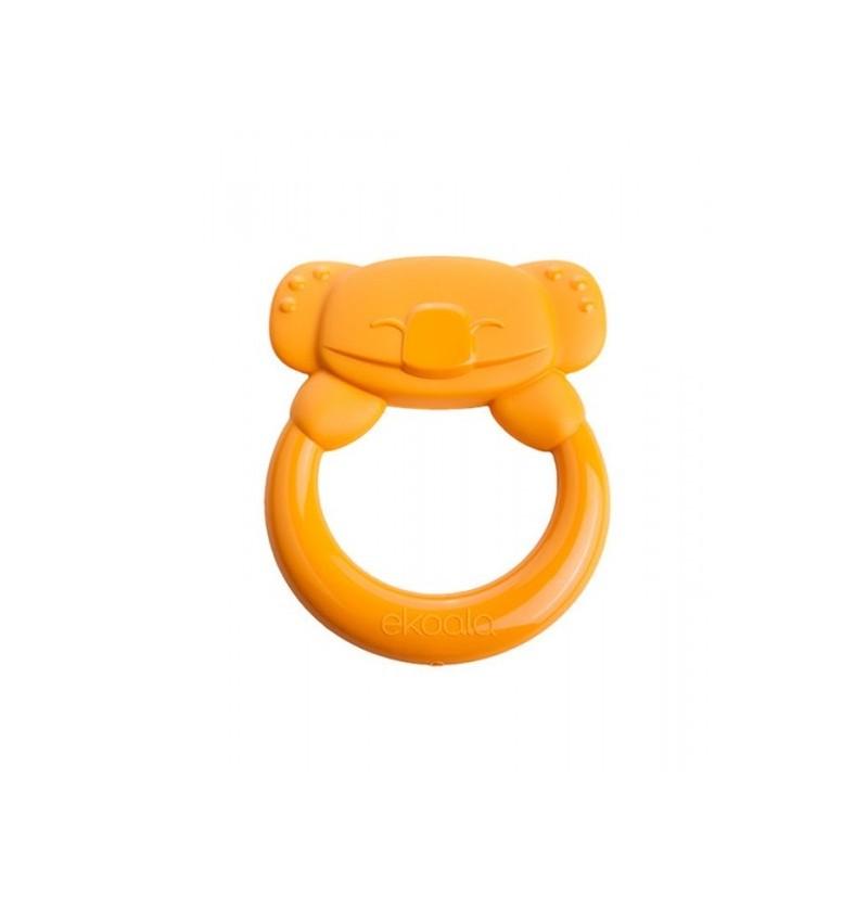 Ekoala gryzak z uchwytem bio 004 041 pomarańczowy