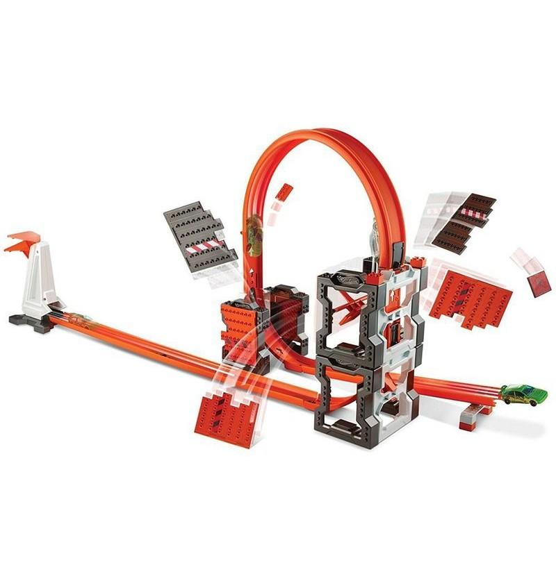 Hot Wheels Szalone kraksy zestaw torów DWW96