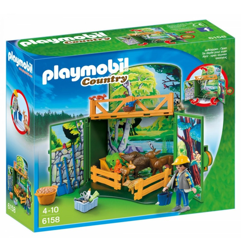 Playmobil 6158 Game box karmienie leśnych zwierząt