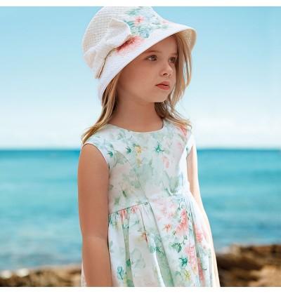 Sukienka z kwiatowym nadrukiem Mayoral 3943