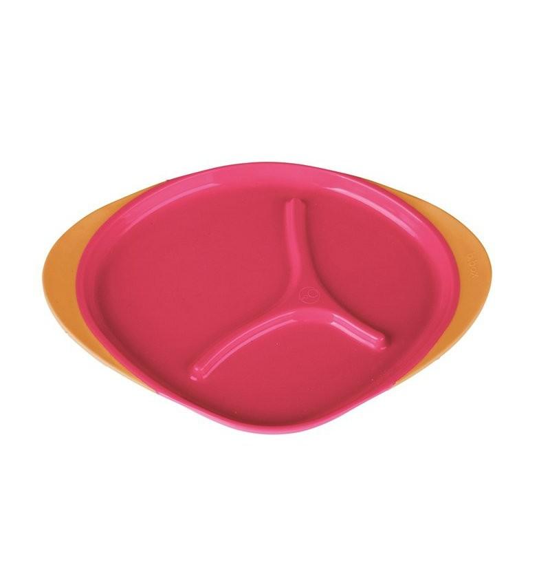 Trójdzielny talerzyk b.box strawberry shake 00306