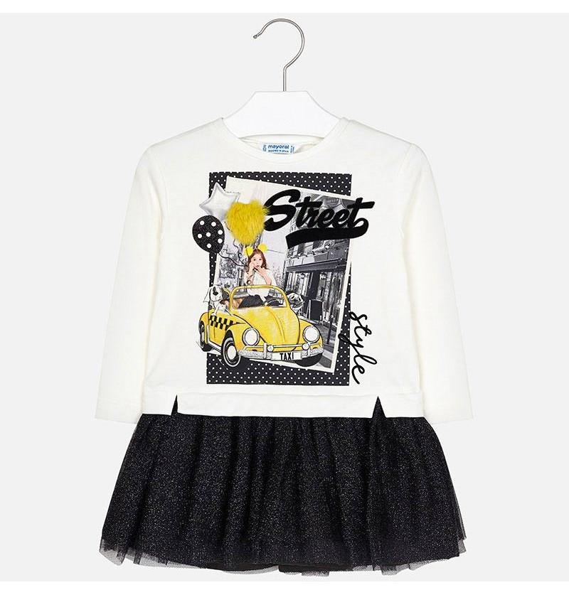 Mayoral Sukienka z tiulem dla dziewczynki 4945-025