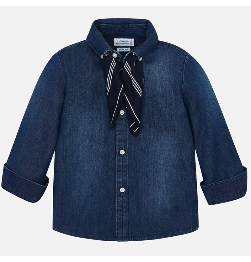 Mayoral Koszula z długim rękawem denim dla chłopca 4124-052