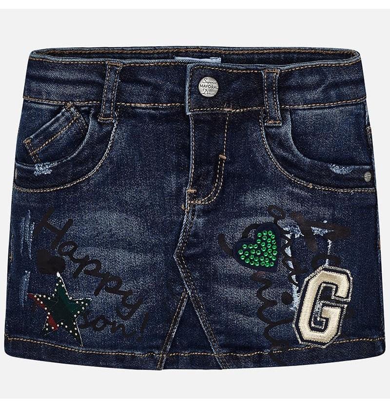 Mayoral Spódnica dżinsowa dla dziewczynki 4911-067