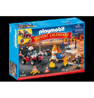 Playmobil 9486 KALENDARZ AKCJA STRAŻY POŻARNEJ NA PLACU