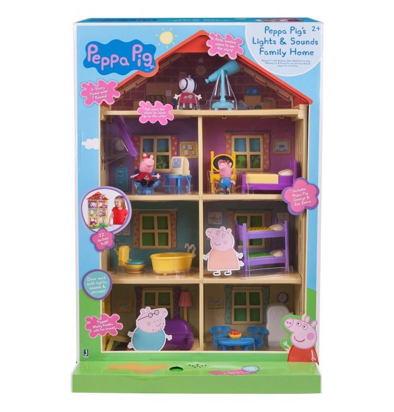 Świnka Peppa PEP00542 Domek Rodzinny- Światło i Dźwięk