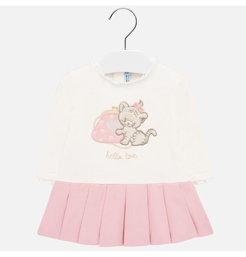 Mayoral Sukienka z łączonych materiałów dla dziewczynki Baby 2912-029