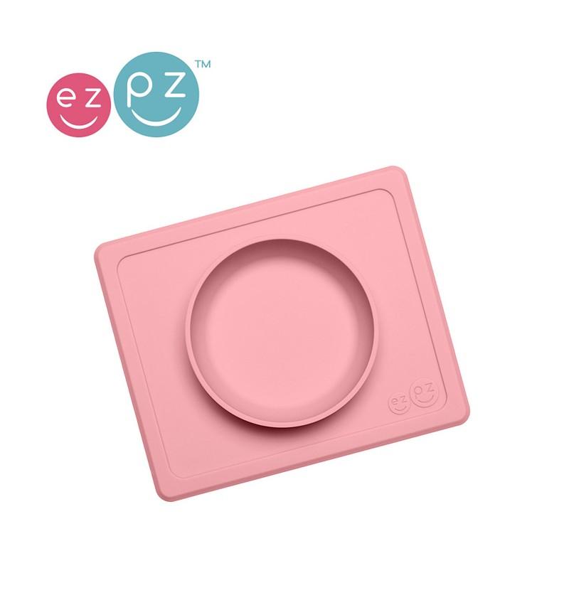 Lassig EUMBB005 EZPZ Silikonowa Miseczka Z Podkładką 2w1 Mini Bowl Pastelowy Róż