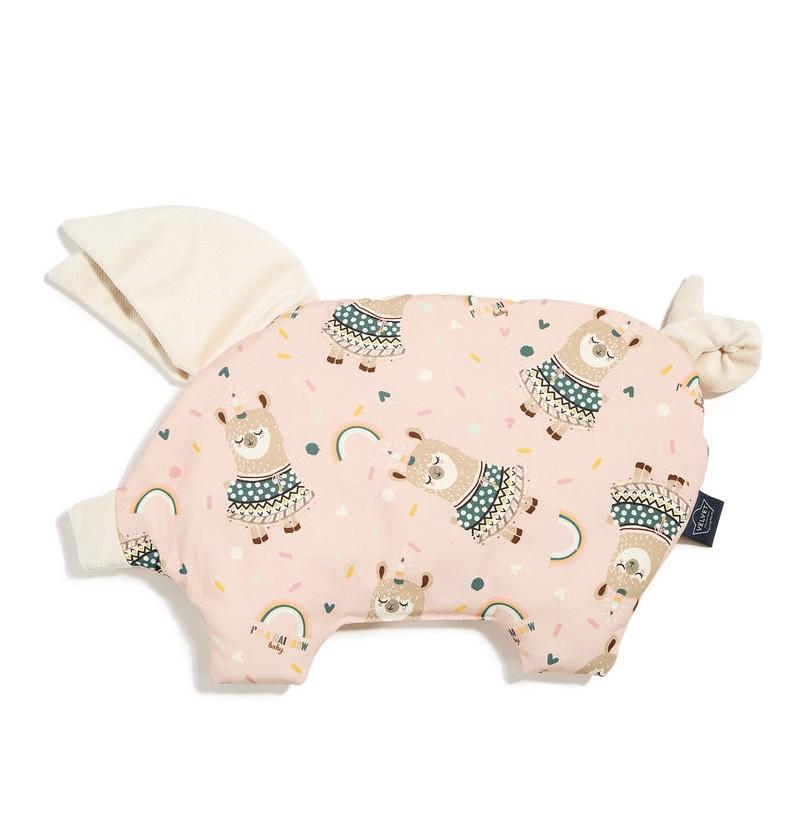 La Millou  VELVET COLLECTION - PODUSIA SLEEPY PIG - I'M A RAINBOW BABY - RAFAELLO