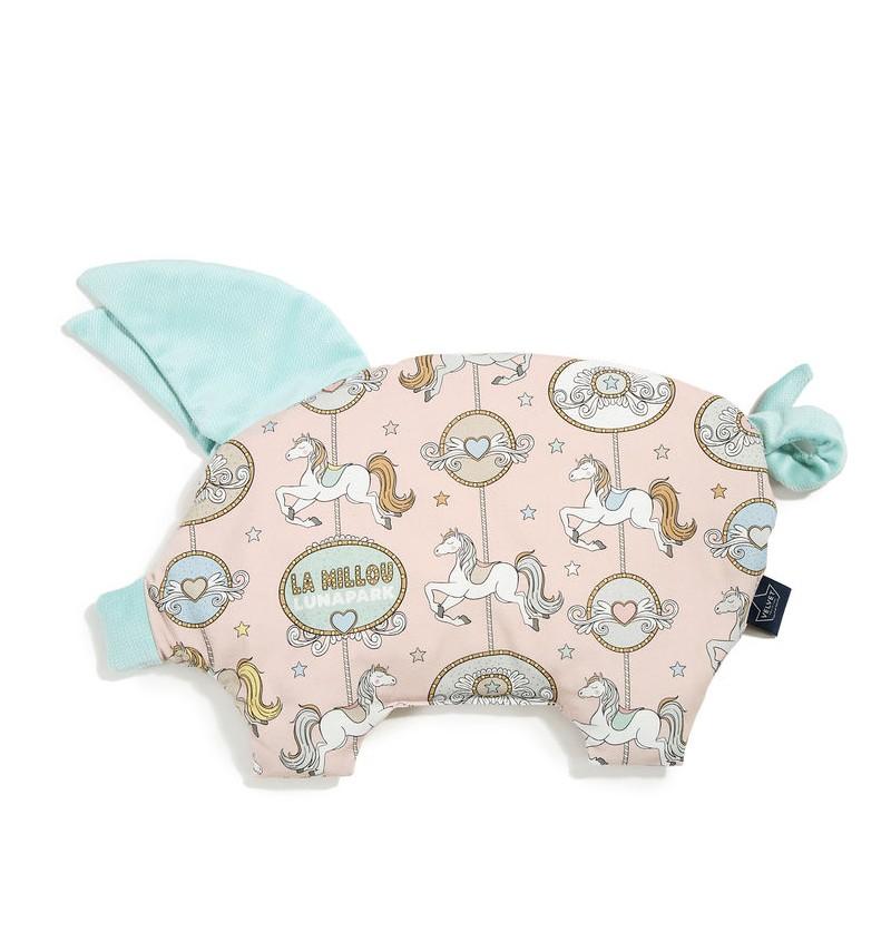La Millou  VELVET COLLECTION - PODUSIA SLEEPY PIG - DREAM LUNAPARK - AUDREY MINT