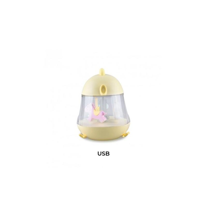 Lampka Regnum 52-0025 z pozytywką Kurczaczek żółta